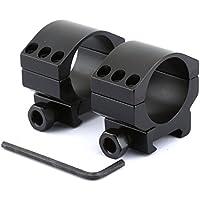 2x30mm de perfil bajo para trabajo pesado alcance del rifle de los anillos de montaje con 6 Tornillos para el carril de Picatinny del tejedor