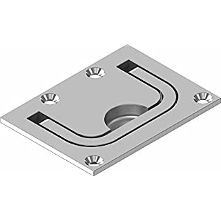 Recessed handle floor lifter cast stainless steel A4 ARBO-INOX