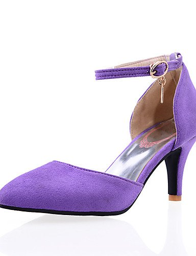WSS 2016 Chaussures Femme-Décontracté-Noir / Bleu / Violet / Rouge-Talon Aiguille-Bout Pointu / Bout Fermé-Talons-Daim purple-us5.5 / eu36 / uk3.5 / cn35