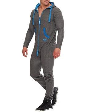 Finchman Herren Jumpsuit Funky Jogger Jogging Anzug Trainingsanzug Overall