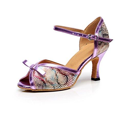Minitoo - Ballroom donna Purple-7.5cm Heel