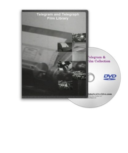 Telegram and Telegraph Film Library DVD - Western Union History, Naval Radio School - Morse Code Training Class and More (Western School)