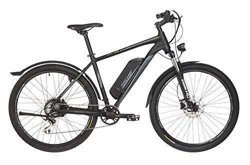 FISCHER E-Bike ATB Terra 2.0 (2019), graphitschwarz matt, 27,5 Zoll, RH 48 cm, Hinterradmotor 25 Nm, 36 V Akku