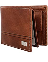 Bi Fold Crazy Horse Leather Wallet By AM LEATHER Brown Premium Quality/Hand Crafted Purse/Wallet For Men