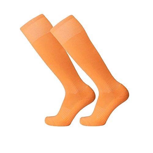Moresave Fußballstutzen Knie Langer Strumpf Sport Athletische Socken (Uniform Spandex Crew)