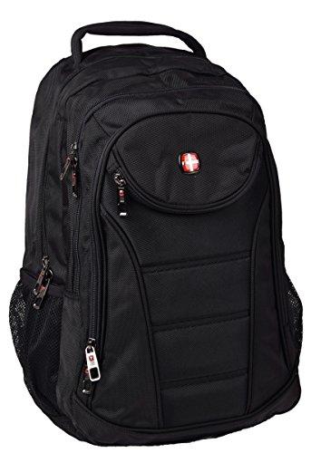IWEA Business Laptop-Rucksack bis 17 Zoll (17,3 Zoll) Arbeit Schule Uni Notebook Backpack Reisetasche Schwarz 48 cm