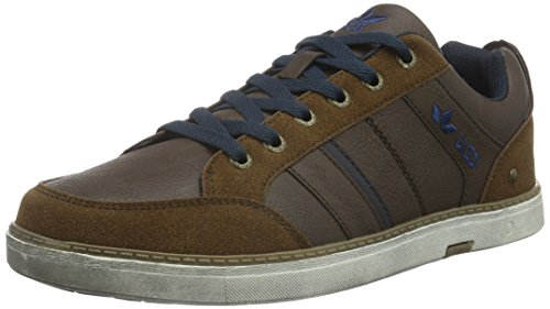 Lico Boston, Baskets Basses Homme Marron (Braun/Marine)