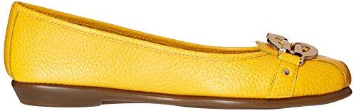 Aerosoles High Bet Femmes Cuir Chaussure Plate yellow