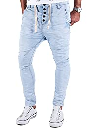 Jogg Jeans Herren Hose Urban Surface Joggjeans Denim Slim Fit Chino Sweatpants Jogger Sweathose