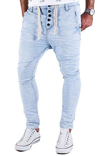 Jogg Jeans Herren Hose Urban Surface Joggjeans Denim Slim Fit Chino Sweatpants Jogger Sweathose Hellblau