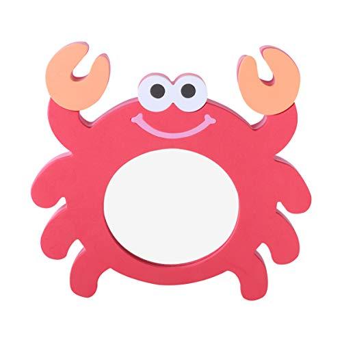 NUOBESTY juguete de cangrejo rojo de dibujos animados de espejo de eva para baño
