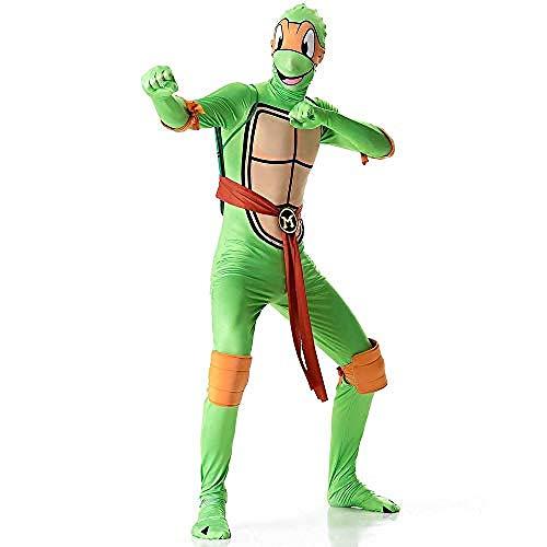 Karneval Anzüge Lydia s Anime Cosplay Kleidung Teenage Mutant Ninja Turtle Cosplay Kostüm 3D Digitaldruck Enge Weihnachten Halloween Kostüm Für Erwachsene Tragen Mike-M-X-Large_Don,Halloween - Teenage Mutant Ninja Turtles Damen Kostüm