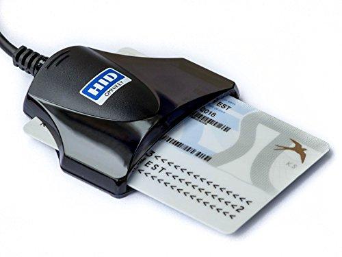 HID Omnikey USB eID Chipkartenleser Smart Card Reader 1021 (schwarz)
