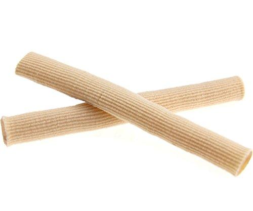 Tube Paire Capuchons d'orteils Protection Découpable en Tissu Doublé de Gel