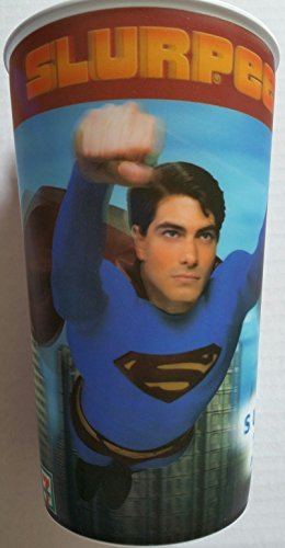 superman-returns-2008-collectible-tumbler-32-ounce-oz-scene-3-plastic-drinking-limited-edition-ed-co