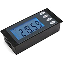 DROK® AC 80-260V Energía Eléctrica Power Meter Monitor de luz de fondo azul Display LCD Voltímetro Amperímetro Electricidad Medidor Multifuncional Tester