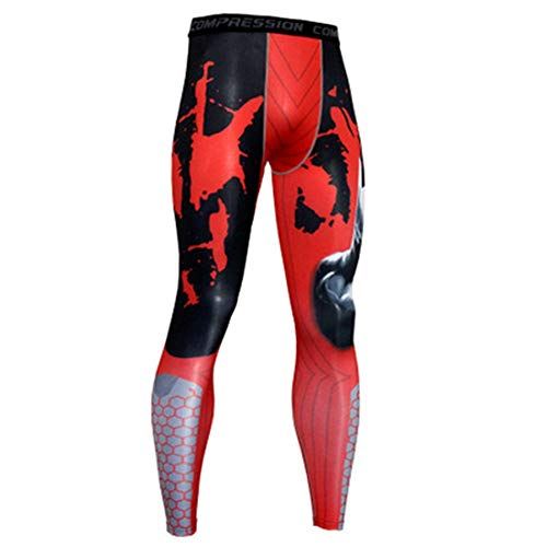GIRlAA Men Compresion Yoga Pants Quick-Drying Elastic Fitness Trousers Gym Workout Pants Cycling Outdoor Clothing x1   L Toy Machine-hoodie