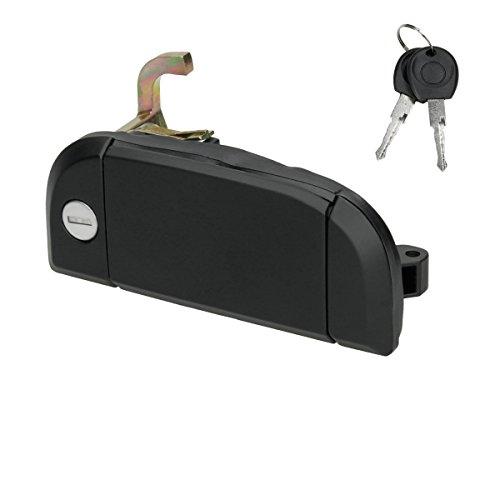 Preisvergleich Produktbild ECD Germany TG-013 Türgriff Tür Griff Außen Türaußengriff vorne rechts mit Schließzylinder und Schlüssel