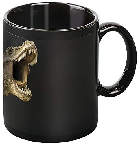 moses. Taza mágica con Foto de Dinosaurio, Taza con Cambio de Color, de cerámica, en Negro, 8x 11x 9.5cm