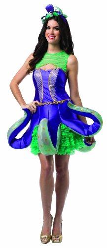 Rasta Imposta 7607 Lila-grün-goldenes Verziertes Kostüm für Damen Oktopus (One Size)
