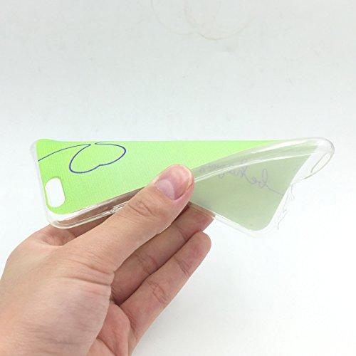 König-Shop Housse De Téléphone Portable Protection De Couverture De Cas Sac Motif Slim silicone TPU Coque Pare-chocs Étuis motifs divers - SMILE BLAU, Apple iPhone 6 / 6s Plus (5.5 Pouces) Vert