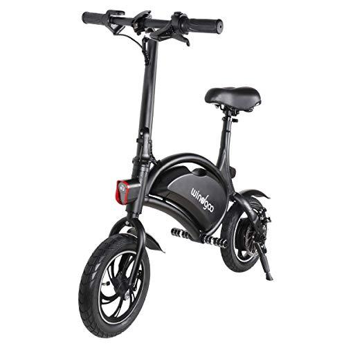 Windgoo Vélo Électrique Pliant, Jusqu'à 25km/h, 12 Pouces Ultra-léger Noir E-Bike, Batterie...
