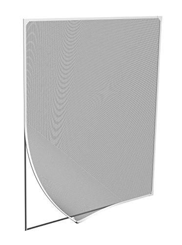 Windhager Insektenschutz Magnetfenster MAGNET Rahmen für Fenster Fliegengitter Mückengitter, werkzeugfreie Montage, Weiß, 120 x 120 cm;