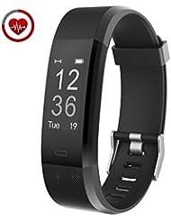 Fitness Armband Echtzeit-Herzfrequenz-Überwachung Vigorun YG3 Plus Fitness Tracker Fernauslöser Multi-Sport-Modus Schrittzähler Kalorienzähler Schlafüberwachung Kompatibel mit Android & iOS