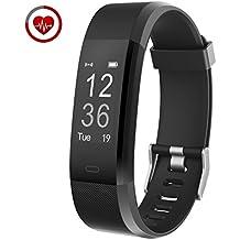 Fitness Tracker Vigorun YG3 Plus Braccialetto Intelligente Monitoraggio della frequenza cardiaca Bluetooth 4.0 Pedometro Calorie Promemoria sedentario Otturatore remoto Multiple Sports Mode per Android e iOS (Nero)