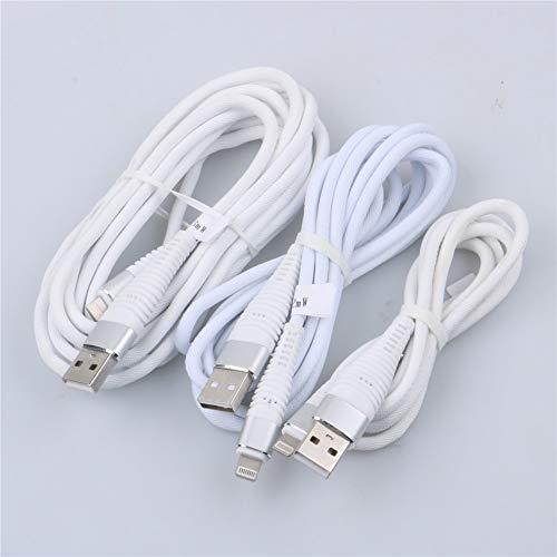 Interesting 3Pack Kompatibel für iPhone 8, 8 Plus, 7, 7 Plus, 6S, 6 Plus, 5S, 5, iPod Kabel- (3 + 6 + 9) FT Nylon Geflochtene Ladekabel Kabel Daten Sync Ladekabel zu USB Kabel (Weiß) (Ladegerät 5 Iphone Viel Schnur Geflochtener)
