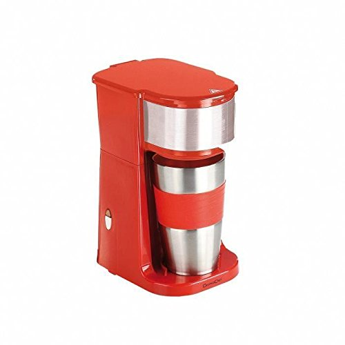 Mini cafetière rouge avec mug de voyage DOD118R