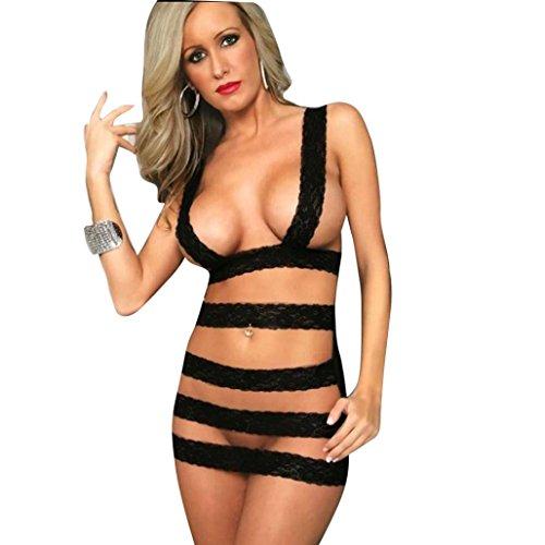 Sunnywill Charmante Schöne Dessous Frauen Unterwäsche Nachtwäsche für Damen Frauen - Geliefert Halloween-geschenk-körbe