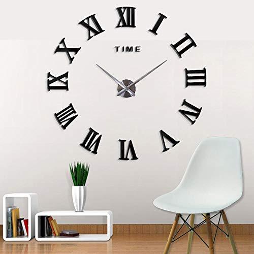 WANGZZZ 3D große Größe Digital schöne Wanduhr Neue Schwarze Farbe Hauptdekor-freie Verschiffen-Neue Borduhr-Uhr-Wanduhren