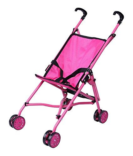 nk Regenschirm Puppe Buggy, schwarz Griffe und Hot Pink Rahmen-0128A ()