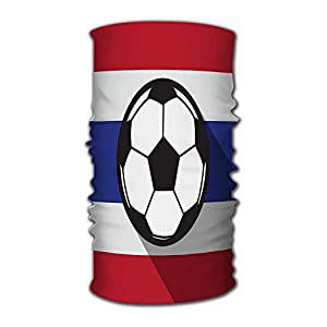 Kkyoxdiy Men & Women Bandana Face Sun Mask Football Icon with Thailand Flag Headwear Great for Men & Women