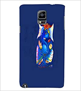 PrintDhaba Lord Ganesha D-5577 Back Case Cover for SAMSUNG GALAXY NOTE 3 (Multi-Coloured)