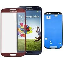 Samsung Galaxy S4 i9500 i9505 LCD pantalla táctil con cristal frontal con klebefolie - rojo
