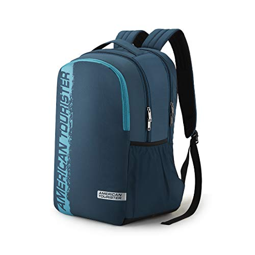 American Tourister Spin 29 Ltrs Teal Laptop Backpack (FS0 (0) 11 001) Image 2