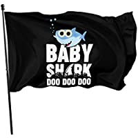 AGnight Baby Shark Doo Doo Doo Decorative Garden Flags, Outdoor Artificial Flag for Home, Garden Yard Decorations 3x5 Ft