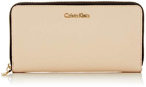 Calvin Klein Damen Neat Large Ziparound Geldbörse, Grau (Light Sand), 2.5x11x20.5 cm
