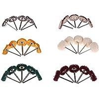lennonsi 30pcs Cepillo de Pulido Buffer Wheel Polishing Buffing Pad Kit Rueda de Alambre en Forma de T for Dremel Rotary Tool