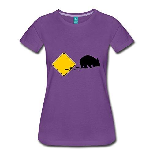 Spreadshirt Wombat Break Out Frauen Premium T-Shirt, XL, Lila (Einheitliche T-shirt Lila)