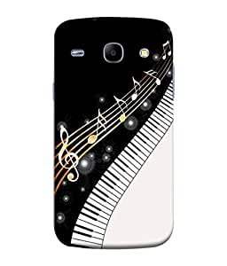 FUSON Designer Back Case Cover for Samsung Galaxy Core I8260 :: Samsung Galaxy Core Duos I8262 (Art Classic Guitar Hobby Instrument )