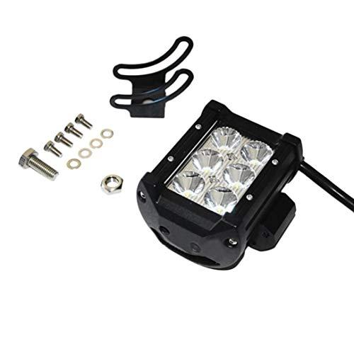 Sairis 4 Pouces 18W LED lumière de Travail inondation/Spot lumière Conduite Offroad LED Light Bar 12V 24V 4x4 Camion Moto Bateau Tracteur Barra (Noir)