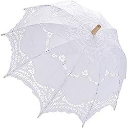 Parasol novia para el día de la boda - color Blanco