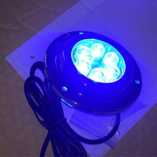 Jiang Hui Unterwasserbeleuchtung 12W LED Unterwasserlicht 12/24V IP68 Pool Licht Runde Unterwasserbeleuchtung Teichbeleuchtung Unterwasser Led Für Boote Aquarium Brunnen Oder Teich - Lichter Led-unterwasser-boot