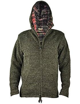 Chaqueta virblatt para hombres de revestimiento de lana en tallas S, M, L, XL Suéter de lana con capucha 100 %...