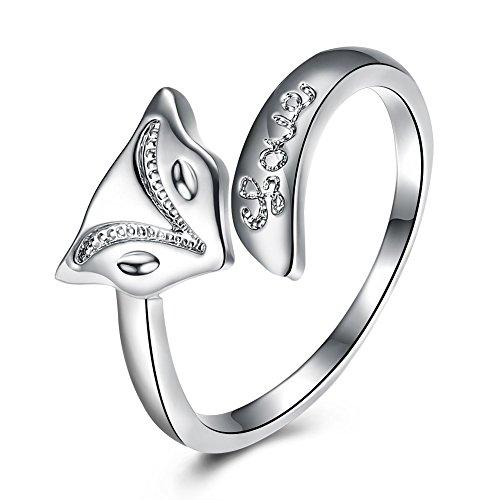 Damen Fashion Jewelry Zink Legierung Fox Form verstellbar Ring Mädchen Kostüm Geschenk für Weihnachten (Billig Kostüme Für Mädchen)