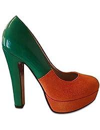 Amazon.it  Arancione - Scarpe col tacco   Scarpe da donna  Scarpe e ... 3bd49c9a73d