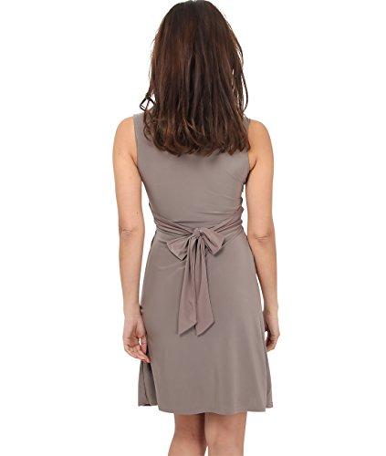 KRISP® Femmes Robe Inspiration Portefeuille Soirée Cocktails Elégante Différents Coloris Disponible Moka